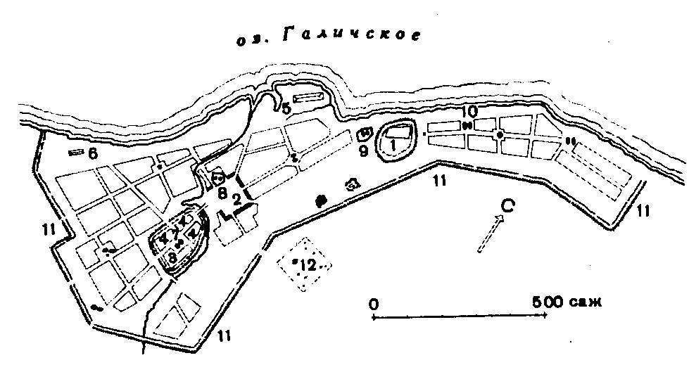 План-схема Галича Мерьского
