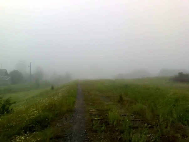 Пейзажи Чусового: Туман над полями в окресностях Чусового (фотография №7)