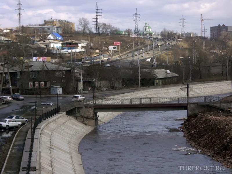 Три дня в Красноярске: Вид с моста на Красноярск. (фотография №34)
