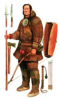 Доблестный воин манси(вогул). Рисунок.   Фото 1